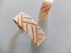 Bracelet tissé d'après un rouleau de masking tape !