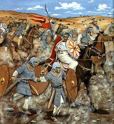 Battle of Yarmuk, 636 AD (Byzantines vs. Arabs).  A catastrophic defeat that left the way open for the Arabs to conquer Syria.