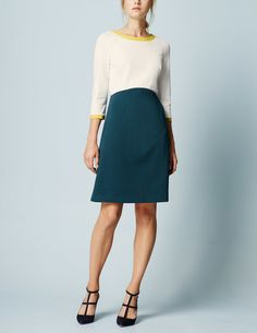 This is my favorite new dress! Has a fantastic zipper in the same yellow color. So pretty and fun for work, church, luncheons, even girls night out. BodenUSA: Louise Ponte Dress