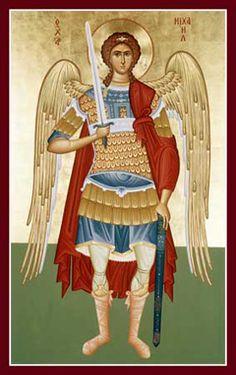 Icon of St Michael warrior Religious Images, Religious Icons, Religious Art, Catholic Archangels, St Michael Prayer, St. Michael, Greek Icons, Constantino, Unique Halloween Costumes