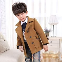 (26.46$)  Watch now - http://aiwo8.worlditems.win/all/product.php?id=32718826589 - High quality New Boys Winter Coat Fashion Double Breasted Solid Navy Wine Red Kids Wool Coats Jacket Boys Children Outerwear