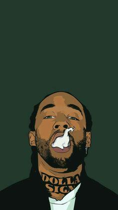 Dope Wallpapers Iphone Wallpapers Trill Art Supreme Wallpaper Black Women Art Black Art Hip Hop Art Celebrity Drawings Swag Cartoon