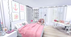 Mony Sims: Quarto - Garota Fashion The Sims 4