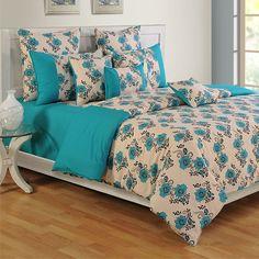 #Turquoise Berry Swayam #ColorsOfLife #BedSheets - 2416