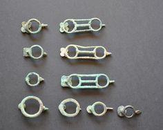 Amlash Bactrian bronze belt buckles back, 1st millenium B.C. Private collection