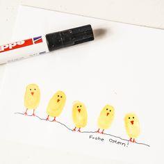 Aus Kinderfingerabdrücken lassen sich die witzigsten Sachen zaubern. Zu Ostern natürlich Küken. Diese Karten sind schneller gemacht, als zur Post … Weiterlesen