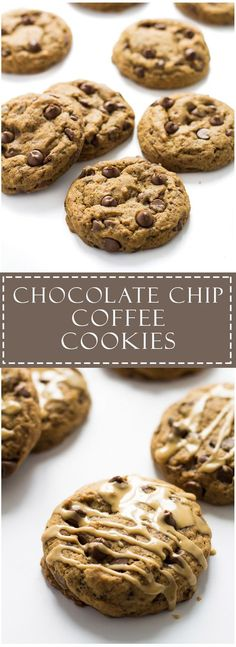 Chocolate chip coffee cookies, perfect for dunking into your coffee! Give this recipe a try, Vida e Caffe instant coffee granule! Visit http://vidaecaffe.com for more info. #NoPassionNoPoint