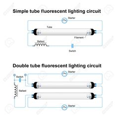 Led Fluorescent Tube Wiring Diagram Led fluorescent, Led