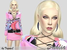 A beautiful model named Dahlia!.  Found in TSR Category 'Sims 4 Young Adult Female Sims'