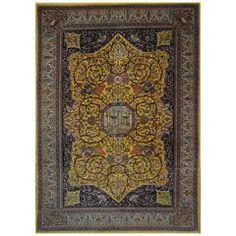 Persian Tabriz Four Angels Ornate 20th Century Oriental Rug