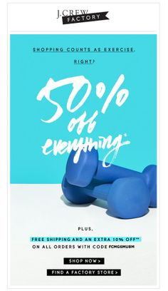 J Crew Factory email