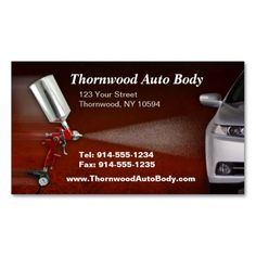 Auto Body Business Card Painter Business Cards Pinterest