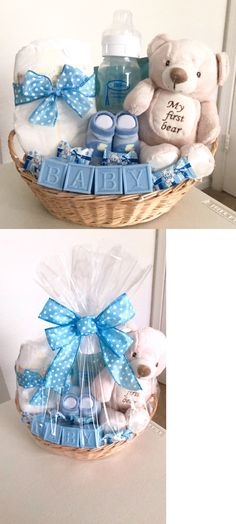 Gift Sets Baby Boy Or Girl Shower Decorative Gift Basket Favors Blocks P. - Gift Sets Baby Boy Or Girl Shower Decorative Gift Basket Favors Blocks P. Cadeau Baby Shower, Idee Baby Shower, Baby Shower Gift Basket, Baby Hamper, Girl Shower, Gifts For Baby Shower, Baby Gift Hampers, Baby Boy Gift Baskets, Baby Gift Box