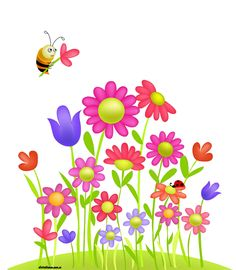 Cartoon Flowers Clip Art | Flower Garden | Stock Vector ...