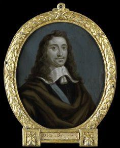 Arnoud van Halen   Portrait of Everard Meyster, Poet in Utrecht, Arnoud van Halen, 1700 - 1732   Portret van Everard Meyster (1617-79). Dichter te Utrecht. Buste in ovaal, naar rechts. Onderdeel van een verzameling portretten van Nederlandse dichters.