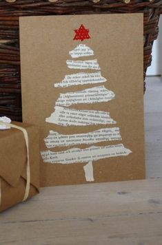 Easy DIY Holiday Crafts - Old Hymnal Tree - Click pic last . - Easy DIY Holiday Crafts – Old Hymnal Tree – Click pic for 25 Handmade Christmas Cards Ideas for - Christmas Card Crafts, Homemade Christmas Cards, Christmas Art, Christmas Projects, Holiday Crafts, Christmas Ornaments, Ornaments Ideas, Cool Christmas Cards, Diy Holiday Cards