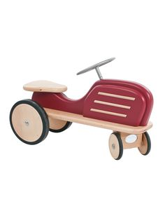 Show details for Moulin Roty Les Bolides Wooden Ride On Tractor - SLIGHT DAMAGE TO BOX