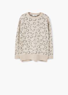 Pullover mit animal-struktur - Cardigans und pullover für Damen | MANGO Deutschland