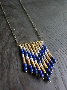 Tribal necklace with chevron pattern. Beautiful.