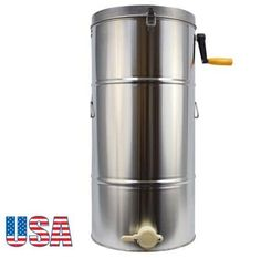 Two 2 Frame Stainless Steel Bee Honey Extractor Honeycomb Drum Beekeeping Supply for sale online