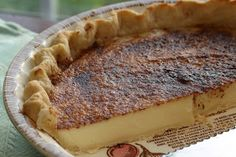 Old Fashioned Sugar Cream Pie