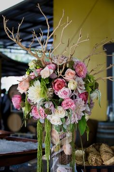 21 Prettiest Floral Ideas from Noonan's Wine Country Designs - wedding centerpiece idea