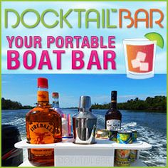 The Docktail Bar Portable Boat Bar is specially designed for to mount on a boat - made of starboard for a marine environment. Find it at Boater Life Online Boating Tips, Boating Holidays, Life Online, Marine Environment, Boat Accessories, Boat Stuff, Boater, Vodka Bottle, Pontoon Boats