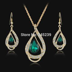 Popular Emerald Teardrop Necklace-Buy Cheap Emerald Teardrop ...