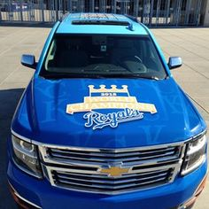 The trophy is loaded & ready to ride in style. #RoyalsTrophyTour officially begins today! royals.com/TrophyTour | royals.com