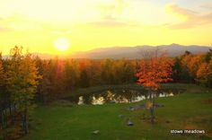 Sunset over Mt. Mansfield