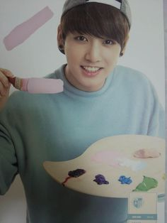 Jungkook hey stop painting on the screen XD