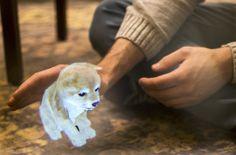 AR Puppy seen through the Aryzon headset!