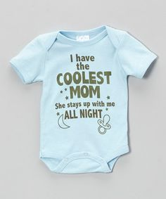 Love this Blue 'Coolest Mom' Bodysuit - Infant by Mon Cheri Baby on #zulily! #zulilyfinds