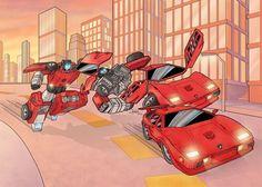 Sideswipe to Lamborghini by J-Rayner.deviantart.com on @DeviantArt