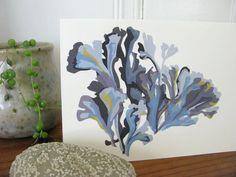 Seaweed Notecard ::  by Shayna Roosevelt #myownwork