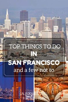 Top Things to Do in San Francisco. Just because they're popular doesn't mean they're for you. Discover a few things you can skip, check the pros and cons of the rest and decide for yourself. What to do in San Francisco San Francisco Vacation, San Francisco Travel, San Francisco Bay, Weekend In San Francisco, San Francisco With Kids, Oh The Places You'll Go, Places To Travel, Places To Visit, Parks