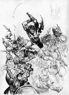 UNFINISHED CONAN by benitogallego on DeviantArt John Buscema, Conan The Barbarian, Group Art, Red Sonja, Sci Fi Art, Comic Artist, E Design, View Image, Really Cool Stuff