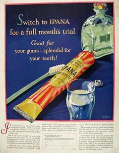 1927 Ipana Toothpaste Ad ~ Great Art ~ Hollingsworth