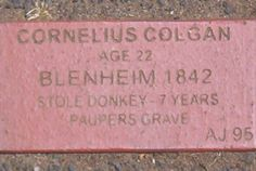 Cornelius Colgan's convict brick memorial at Campbell Town.