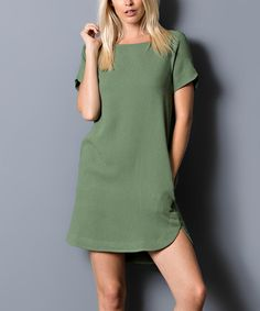 Olive Shift Dress #zulily #zulilyfinds