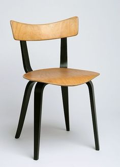 Maria Chomentowska; Molded Plywood 'Spider' Chair for IWP, 1957.