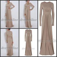 Elegant  Long Sleeves High Neck  Evening Dress