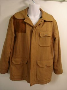 271b4f31fd02d Vtg. Woolrich Mens Wool Hunting Coat Jacket Size 40 Tan  Woolrich  Hunting  Military