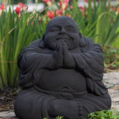 Representing universal love and prosperity, the image of this laughing Buddha is a classic image. Made from volcanic ash, this sculpture will look magnificent in your garden or simply in a special place in your home.