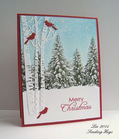 At the Less is More blog, theyre asking us to use more than one tree to make a card. Heres my...