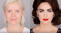 Retro Makeup How to get those perfect Elizabeth Taylor Eyes! We show you the makeup strategies that Elizabeth Taylor used for her eyes Makeup Tips, Beauty Makeup, Eye Makeup, Hair Makeup, Makeup Tutorials, Makeup Blog, Worst Makeup, Prom Makeup, Makeup Videos