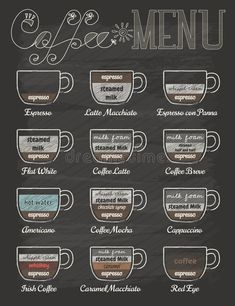 Photo about Set of coffee menu in vintage style with chalkboard , eps10 vector format. Illustration of decoration, badge, milk - 42974723