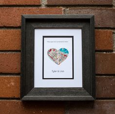 Miles Apart But Connected At Heart Long Distance Map Map Custom Wedding Gifts, Wedding Gifts For Couples, Personalized Wedding, First Anniversary Gifts, Paper Anniversary, Family Gifts, Couple Gifts, Long Distance Relationship Gifts, Distance Relationships