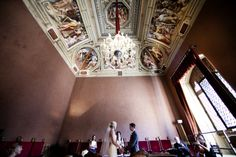 The Civil Ceremony in Siena Town-hall