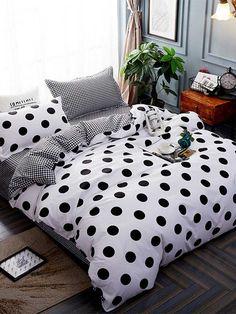 Girl Room, Girls Bedroom, Bedroom Decor, Black And White Bedspreads, Decoracion Habitacion Ideas, Black Decor, Home Textile, Textile House, Comforter Sets